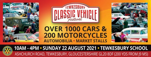 COMPETITION - WIN 1 out of 2 pairs tickets to the 2021 Tewkesbury Classic Vehicle Festival