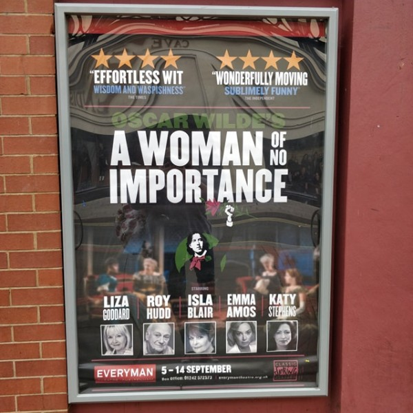 "A review of Classic Spring Theatre Company's performance of ""A Woman of No Importance"" at The Everyman Theatre, Cheltenham"