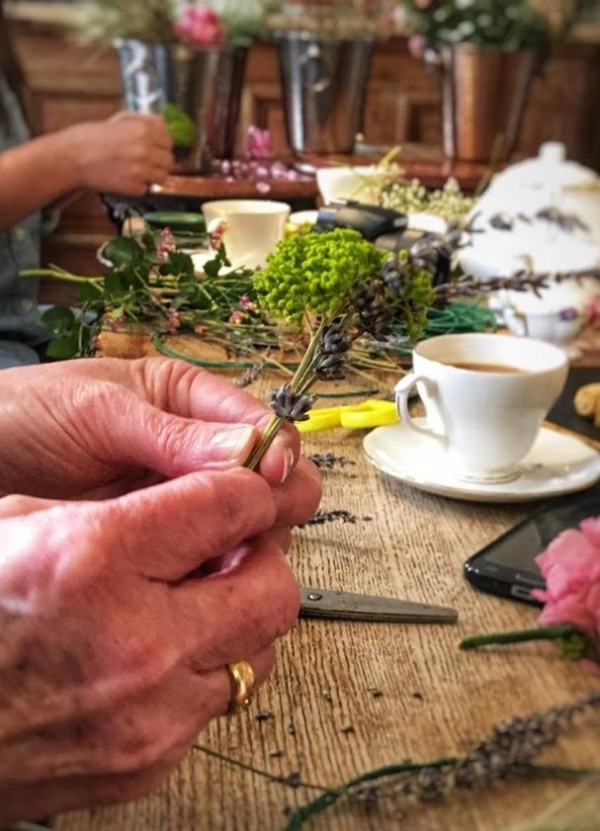 flower crown workshop with an Afternoon Tea