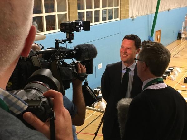 Alex Chalk interviewed by BBC Cheltenham