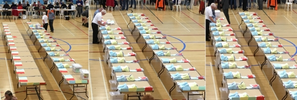 Ballot papers CHeltenham Gemeral Election 2017