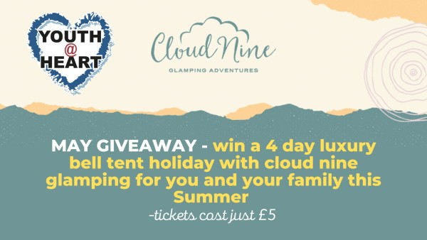 MAY Holiday Giveaway – Enter to WIN a Glamping Holiday for 4 days for just £5 a ticket