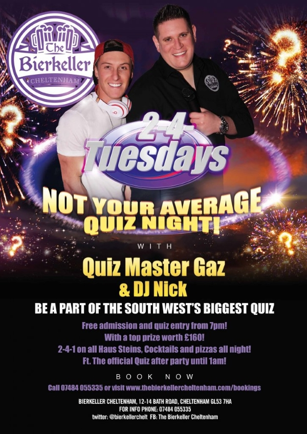2-4-Tuesdays - Not your average quiz night!
