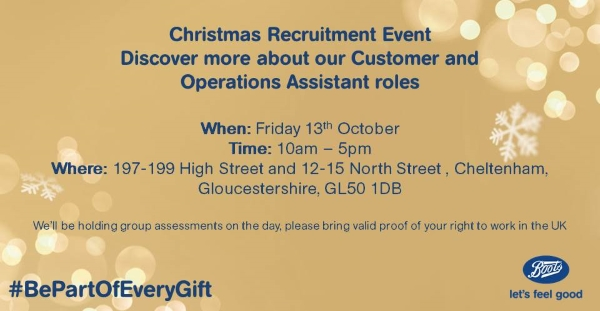 Boots Christmas Recruitment Event