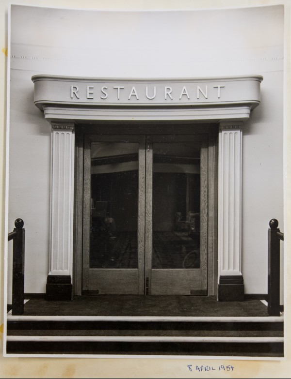Cavendish House Archive Photo of Resturant Entrance Cheltenham