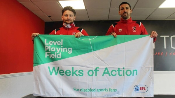 Cheltenham Town support Level Playing Field Weeks of Action campaign