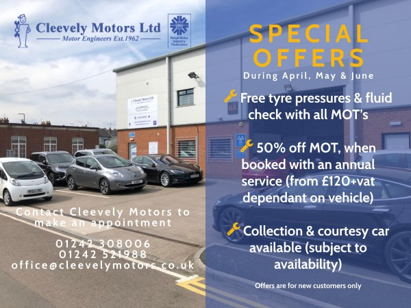 MOT Special Offers at Cleevely Motors