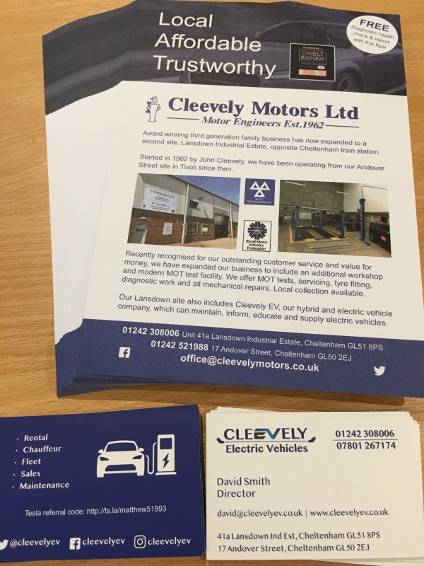 Cleevely Flyers and cards