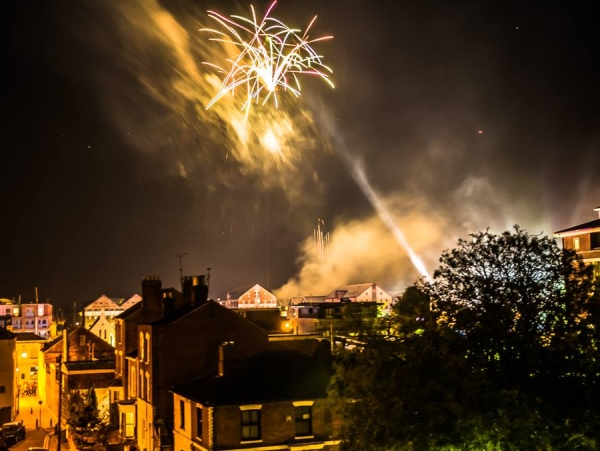 Lighting up Bonfire Night sky in Gloucester