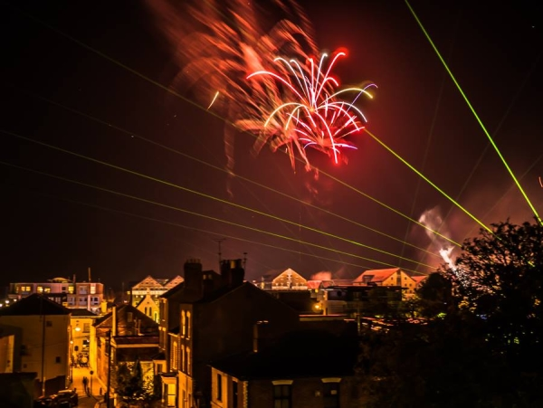 Lasers and Fireworks in Gloucester Quays 2016