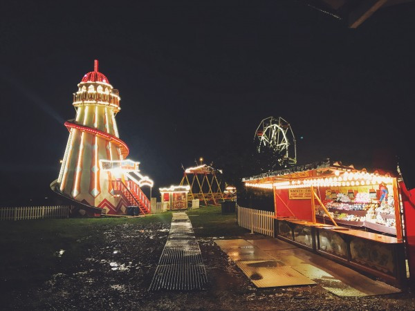 Frightmare Gloucester Fun Fair Aerial View