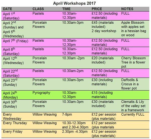GACC arts crafts workshops april 2017 gloucester