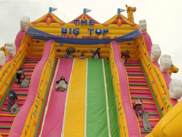 Giant Inflatables at Over Farm, Gloucester