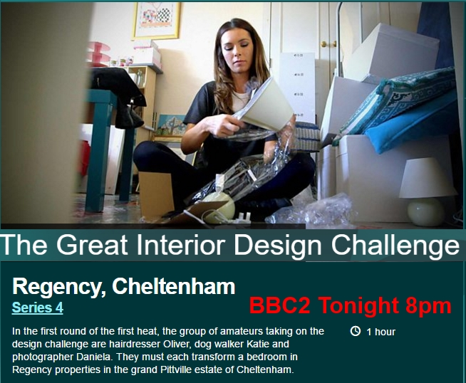 The Great Interior Design Challenge Filmed In Cheltenham Airs