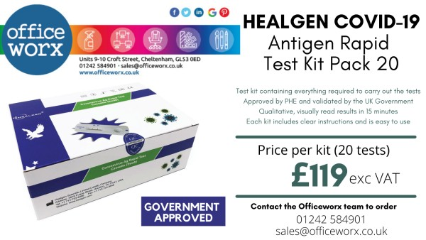 Healgen Covid-19 Antigen Rapid Test Kits NOW Available from Officeworx