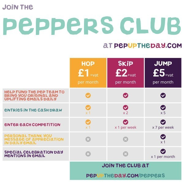 Join the Peppers Club now for lots of special benefits...