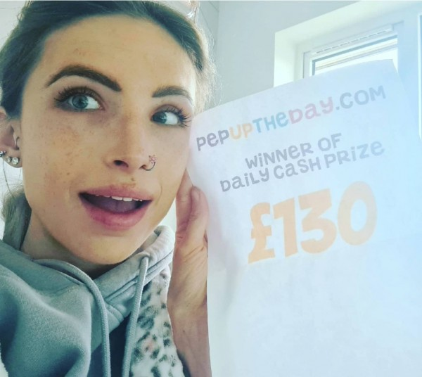 CASH PRIZE WINNER: Lucy won £130 cash on 18th April 2021