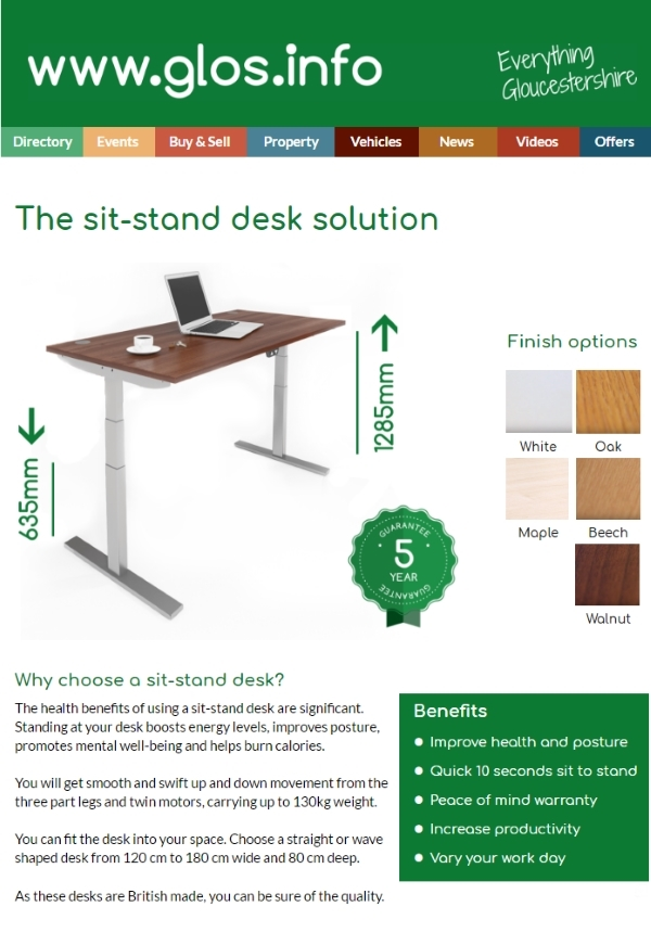 sit stand desk on glos.info