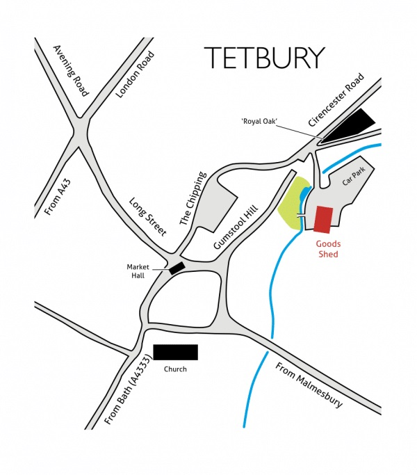 Tetbury Goods Shed Arts Centre Map