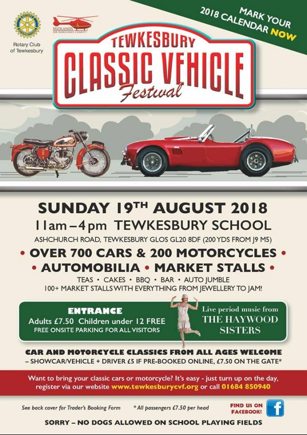 Tewkesbury Classic Vehicle Festival 2018