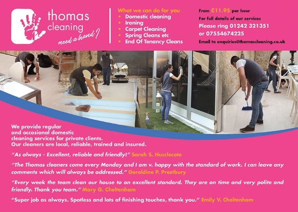 Thomas Cleaning Services Cheltenham - Tired of cleaning? Want your weekends back?