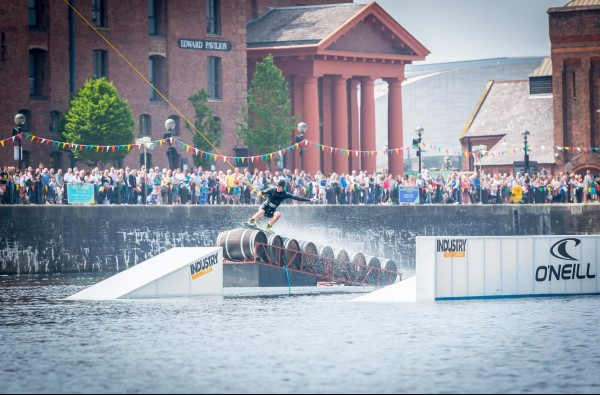 wakeboarding at gloucester tall ships festival