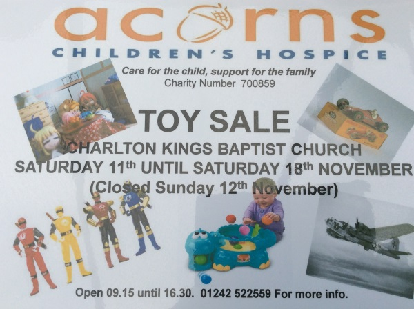 charity toy sale cheltenham