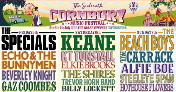 cornbury music festival 2019 lineup comp