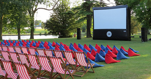 Enjoy a movie at the luxurious and comfortable open air cinema experience from Cult Screens at Sudeley Castle, Winchcombe