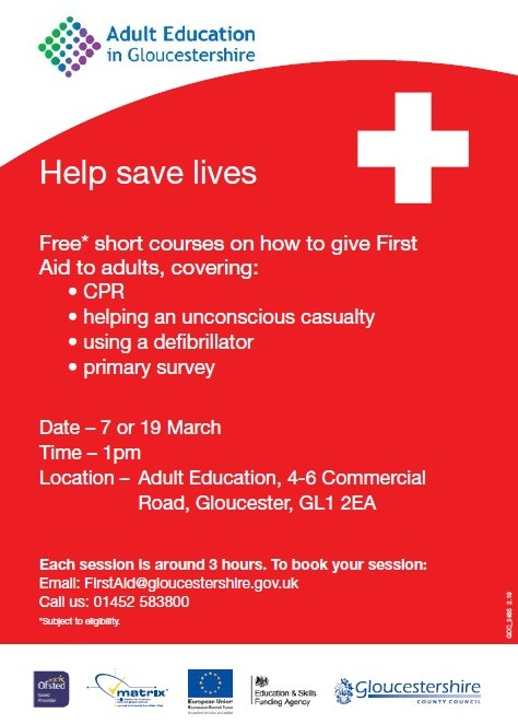 first aid course glouc