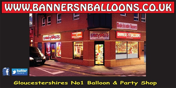glos info banners balloons
