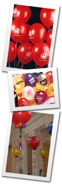 glos info banners balloons printed