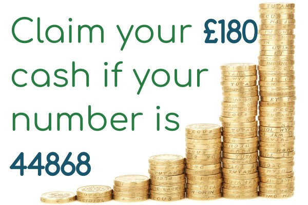 Have you won £180 in our weekly newsletter prize draw?