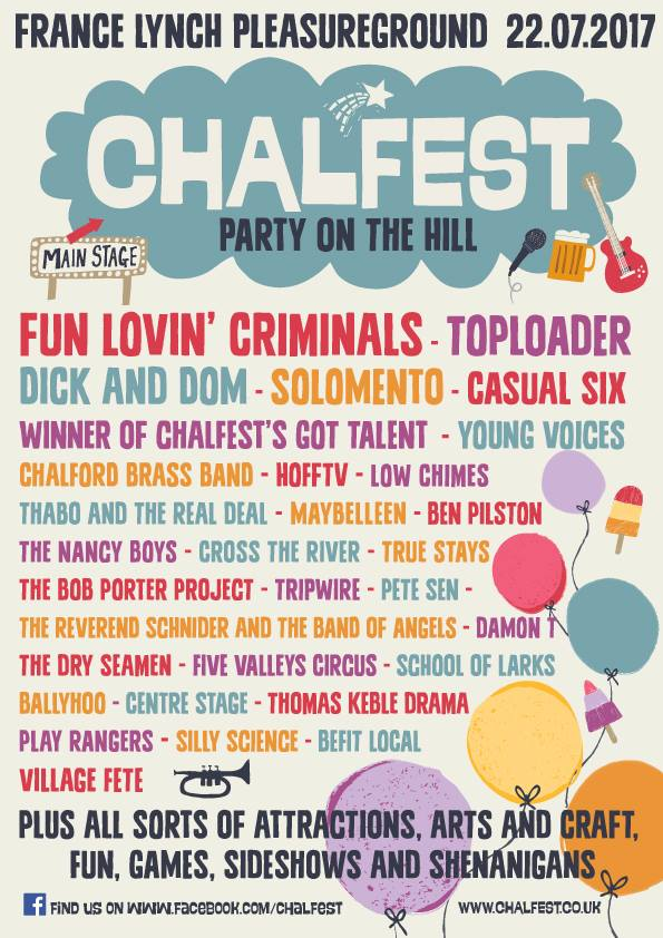www.glos.info Top Ten for July Chalfest 2017 Chalford Hill