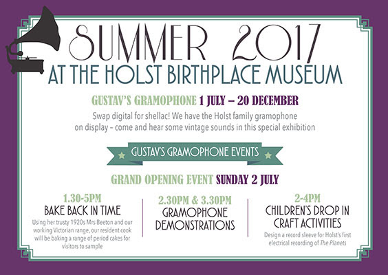 glos.info Holst Museum Gustav's gramophone exhibition