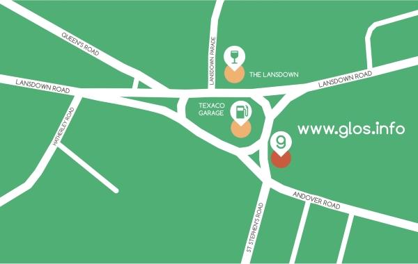 glosinfo shop map Cheltenham