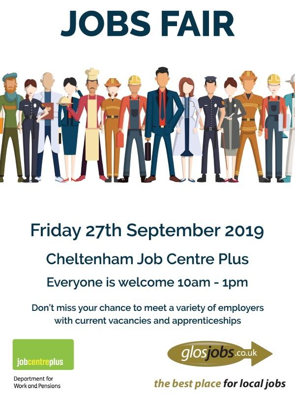 Jobs Fair Friday 27th September 2019 10am 1pm