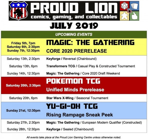 july lion events