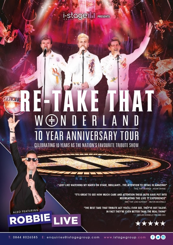 COMPETITION - Win 1 of 2 pairs of tickets to see Take That with Robbie Williams Tribute Night at Jurys Inn Cheltenham