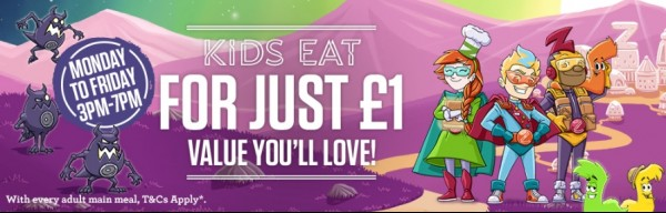 kids eat for 1 pound sizzling pubs
