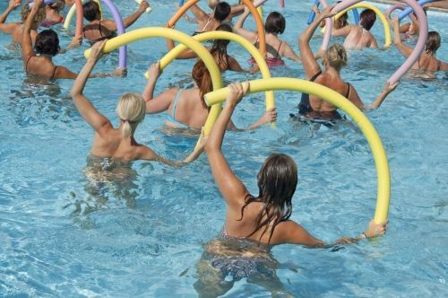 Aqua Aerobics every Wednesdays at Sandford Parks Lido, Cheltenham