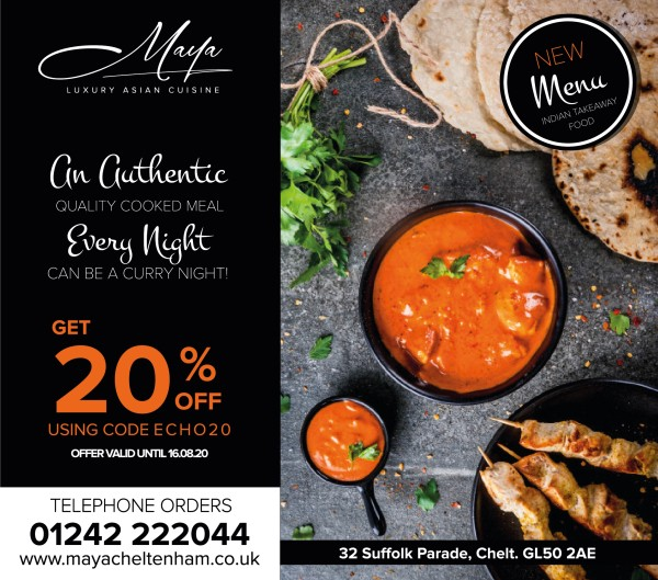 Special Offer: Call Maya Direct and Save 20% on ALL Delivery and Collection Orders