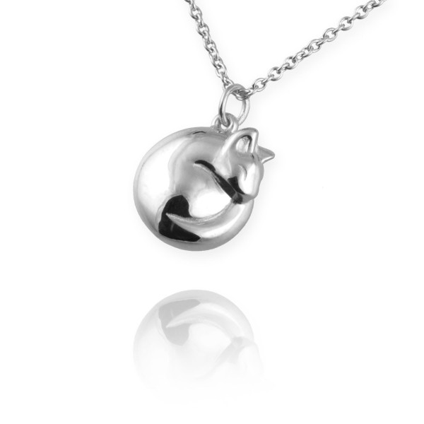 COMPETITION: WIN an adorable handmade curled up cat necklaces - worth £95!