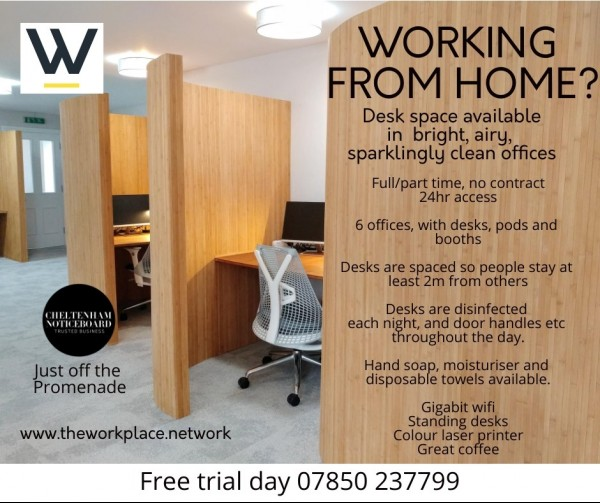 We are staying open for those in need of desk space and head space!