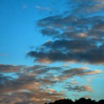 An evening sky over Thrupp - photo