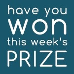 Have you won our weekly newsletter prize draw?