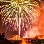 Firework and Laser Display on Bonfire Night at Gloucester Docks