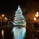Christmas light switch on at Bourton on the Water
