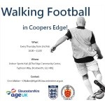 Walking football at Coopers Edge Community Centre