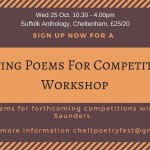 WRITE POEMS FOR COMPETITIONS - a workshop.